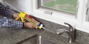 How to seal kitchen sink to granite
