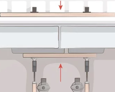 How to install undermount sink without clips in 2021